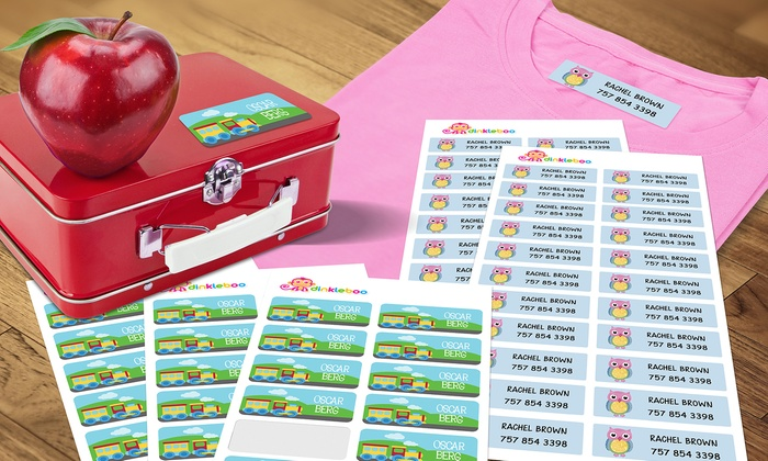 Dinkleboo: Personalized Kids' Name Labels or Iron-On Name Labels from Dinkleboo (Up to 77% Off). Five Options Available.
