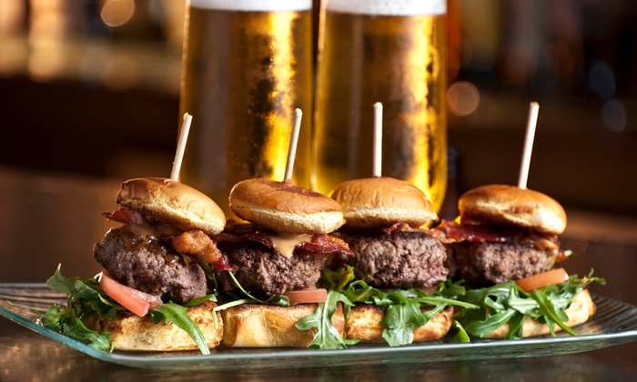 Horny Goat Brew Pub - F&B - Bay View: $19 for Two Entrees and Two Draft Beers at the Beer Garden at Horny Goat Brew Pub ($34 Value)
