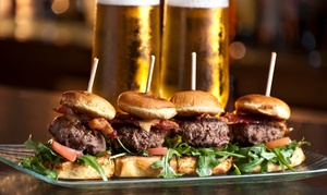 Horny Goat Brew Pub - F&B: $19 for Two Entrees and Two Draft Beers at the Beer Garden at Horny Goat Brew Pub ($34 Value)