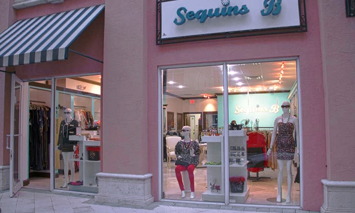 Sequins B - Boca Raton: $25 for $50 Worth of Women's Clothes and Accessories at Sequins B