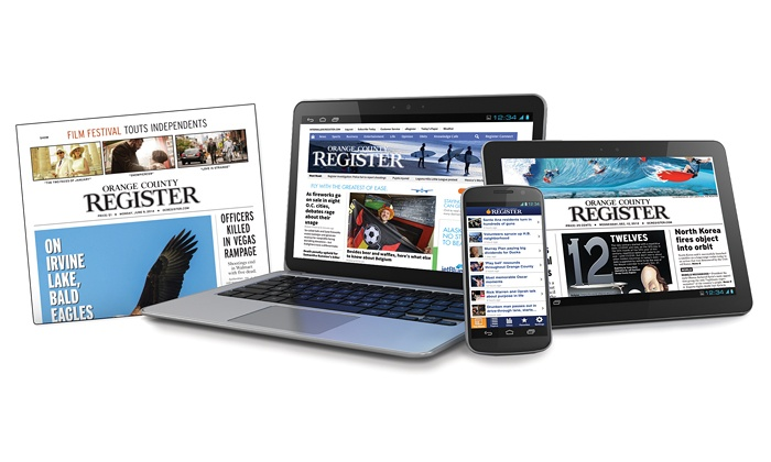 Orange County Register: One-Year Thurs.-Sun. or Sunday Only Subscription to the Orange County Register (Up to 95% Off  )