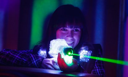 image for Laser Tag: One Game for Two or Two Games for Up to Ten at AJ's Lasertag (Up to 61% Off)