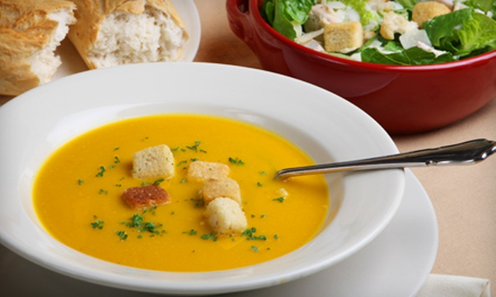 What a Crock! Homemade Soups… - Portsmouth: $15 for Three Groupons, Each Good for One Soup Meal at What a Crock! Homemade Soups… (Up to $31.50 Total Value)