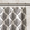 Damask Fabric Shower Curtain Set (13-Piece)