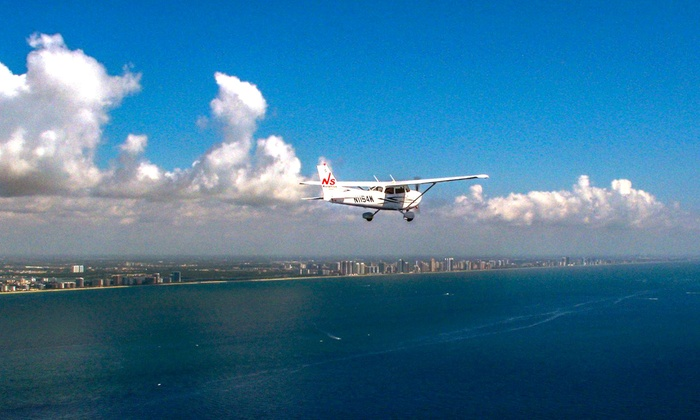NS Aviation - Pembroke Pines: $159 for Introductory Flight Lesson Package with Logbook from NS Aviation ($400 Value)