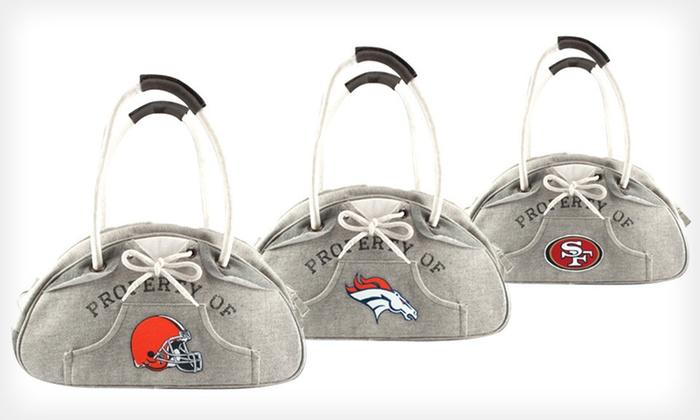 NFL Hoodie Bowler Handbag: $20 for an NFL Hoodie Bowler Handbag ($34.99 List Price). 24 Teams Available. Free Shipping.