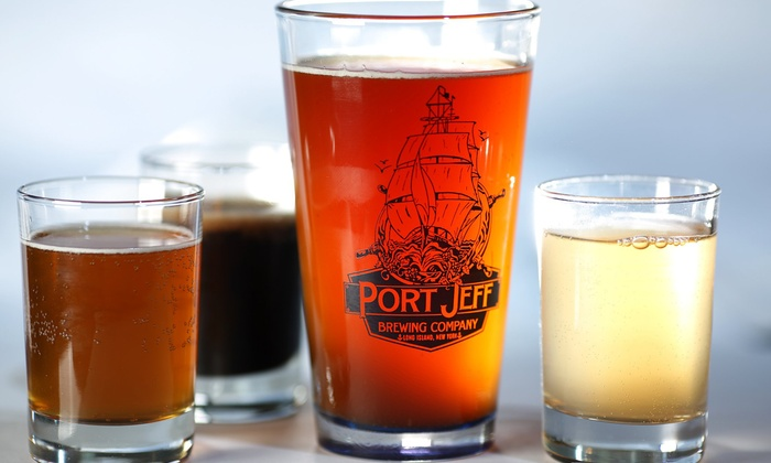 Port Jeff Brewing Company - Port Jefferson: Beer Tasting, Growler, and Souvenir Pint Glasses for Two or Four at Port Jeff Brewing Company (Up to 54% Off)
