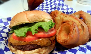 Burgers And Baked Goods At The Factory Grill (50% Off). Two Options Available.