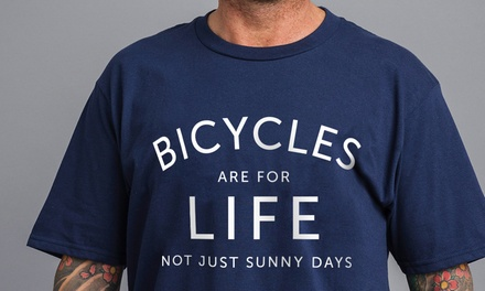 Men's Bicycles Are For Life TShirt for £9.98