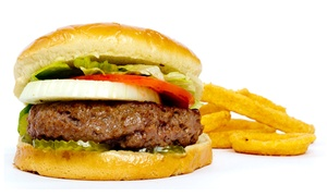 Road Runner: Burgers and Fast Food at Road Runner (Up to 65% Off). Two Options Available.