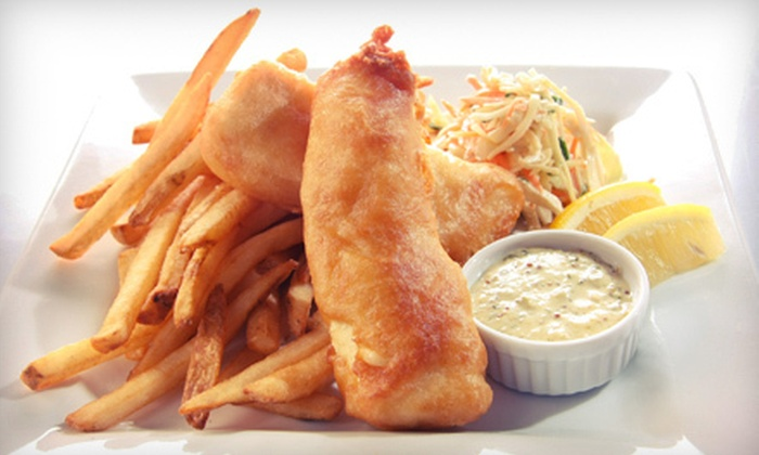 Breakers Restaurant & Bar - Ashworth By The Sea: $20 for $40 Worth of Seafood, Sandwiches, and Pizza at Breakers Restaurant & Bar