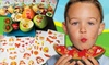 My Fruity Faces Edible Stickers 4-Pack: 4-Pack of My Fruity Faces Edible Stickers