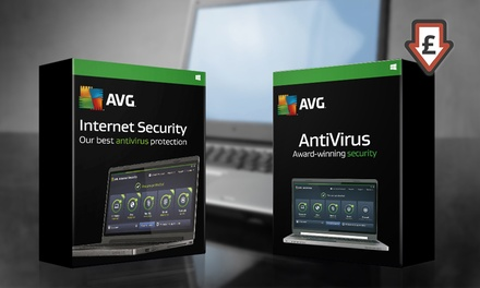 Three-User Two-Year AVG 2017 License: Antivirus or Internet Security