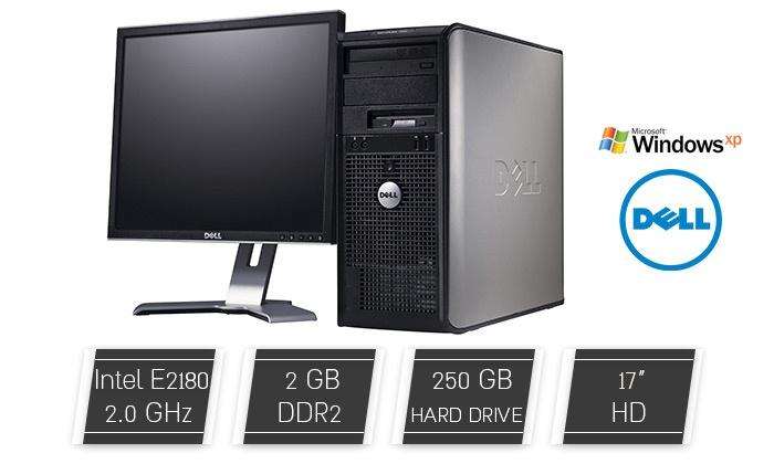 """אול - אין טרייד ישראל בע""""מ - Merchandising (IL): מחשב נייח DELL עם מעבד Intel E2180, זכרון 2GB, דיסק קשיח 250GB ומע' הפעלה XP PRO, כולל מסך מתנה, ואחריות VIP לשנה!"""