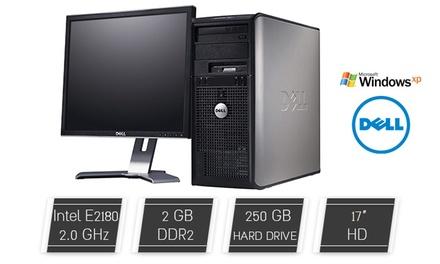מחשב נייח DELL עם מעבד Intel E2180, זכרון 2GB, דיסק קשיח 250GB ומע' הפעלה XP PRO, כולל מסך מתנה, ואחריות VIP לשנה!