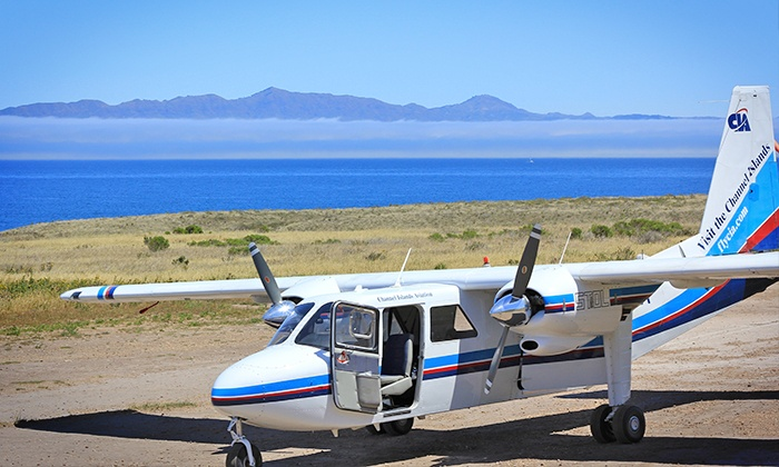 Channel Islands Aviation - Camarillo: Five-Hour Island Day Trip with Flight and Tour for One, Two or Four from Channel Islands Aviation (Up to 46% Off)