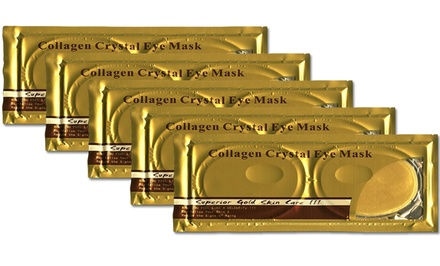 5 Pairs of 24K Gold Collagen Eye Masks