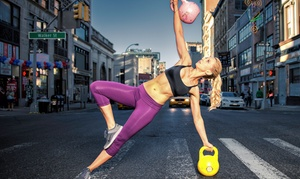 Kettlebell Kickboxing: 5, 10, or 20 Kettlebell Kickboxing Classes at Kettlebell Kickboxing (Up to 75% Off)