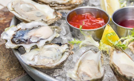 $25 for Two All-In-One Raw Bar Sampler Platters and Two Glasses of Wine at Off The Hook Raw Bar & Grill ($50 Value)