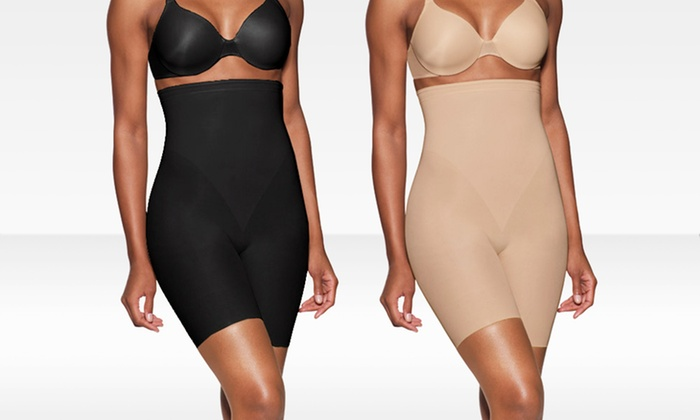 Bali Seamless High-Waist Thigh Slimmer: $12.99 for a Bali Seamless High-Waist Thigh Slimmer in Nude or Black ($32 List Price)