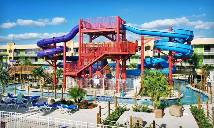 null - Tampa Bay Area: Stay for Up to Four with Two Water-Park Vouchers at Flamingo Waterpark Resort in Kissimmee, FL