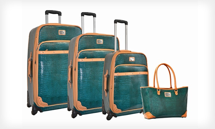 Adrienne Vittadini 4-Piece Luggage Sets: $229.99 for an Adrienne Vittadini Luggage Set ($1,320 List Price). 2 Colors Available. Free Shipping and Returns.