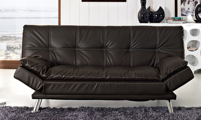 Sofa bed with adjustable arms groupon for Sofa bed groupon