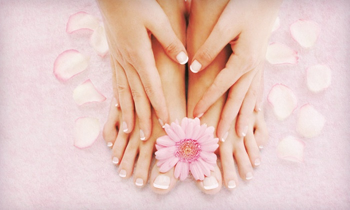 Petti Hair Salon - Niagara Falls: Basic or Shellac Manicures and Pedicures at Petti Hair Salon (Up to 67% Off). Three Options Available.