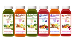 Raw Detox Cleanse: One- or Three-Day Juice Cleanse from Raw Detox Cleanse