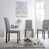 Contemporary Tufted Fabric Morgan Dining Chairs (Set of 4)
