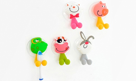 Trend Matters Cute Cartoon Toothbrush Holder with Suction Mount (4-Pack) 305ecbda-177b-11e6-b4e8-002590604002