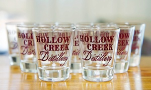 Hollow Creek Distillery: Distillery Tour for Two or Four with Shot Glasses and T-Shirts at Hollow Creek Distillery (Up to 58% Off)