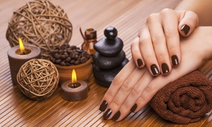 Luxury Nails And Beauty And Hair: Manicure and Pedicure: Deluxe Shellac ($55) or Deluxe SNS ($65) at Luxury Nails and Beauty and Hair (Up to $125 Value)