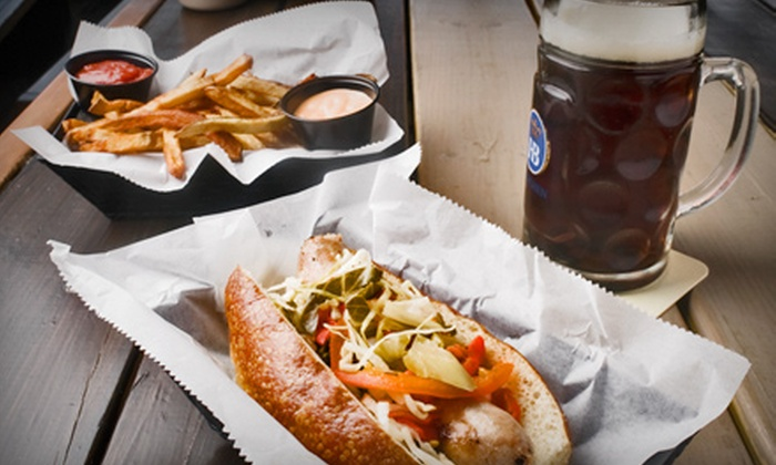 Haus - Union Hill: Beer Flights with Appetizers or German Wurst Meal for Two, or Three German Wurst Lunch Specials at Haus (Up to 52% Off)