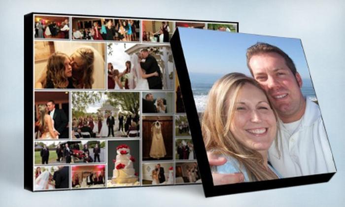 "GOphotobooks: Custom Single-Image or Montage 16""x20"" Premium Canvas from GOphotobooks (Up to 67% Off)"
