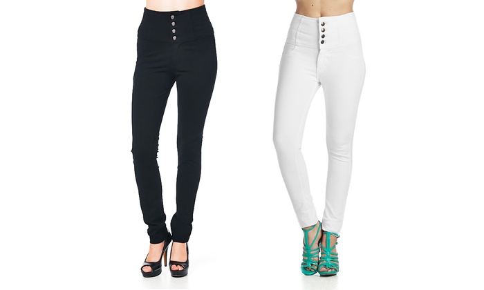 Women's High-Waisted Pants | Groupon Goods