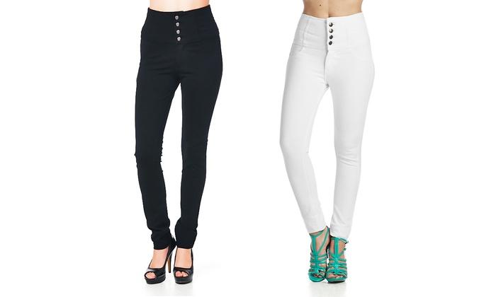 Women's High-Waisted Pants   Groupon Goods
