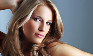 Karen Taylor: Haircut Package or Blow-Dry and Partial Highlight Package from Karen Taylor (Up to 55% Off)