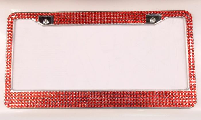 Rhinestone License Plate Frame | Groupon Goods