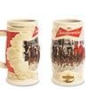 Budweiser Holiday Collectible Ceramic Stein