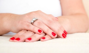 Hillside salon: Mani-Pedis at Hillside Salon (Up to 54% Off). Three Options Available.