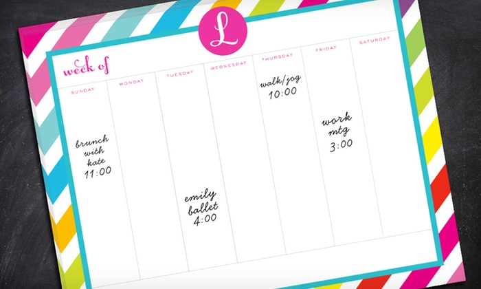"Custom Weekly Calendar Planner Pad from InvitationBox: $24.99 for an 8""x10"" Custom Weekly Calendar Planner Pad from InvitationBox ($49.99 List Price). Free Shipping."