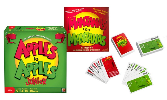 Apples to Apples Spanish or Junior Game: $10.99 for Apples to Apples Party Box: Spanish Edition or Apples to Apples Junior (Up to $34.89 List Price)