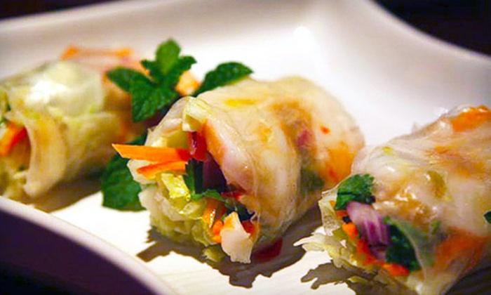 Full Moon Asian Thai Restaurant - White Plains: Thai Dinner or Lunch Cuisine for Two at Full Moon Asian Thai Restaurant (Up to 53% Off)
