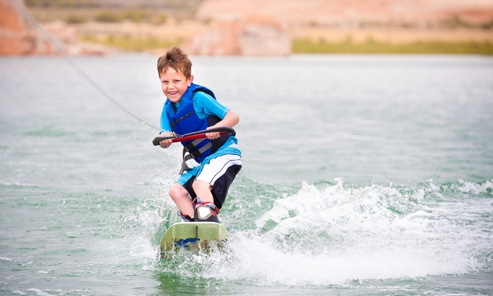 Raging Buffalo - Raging Buffalo Wakeboard School: Half-Day Wakeboarding-Lesson Package for One, Two, or Four at Raging Buffalo Wakeboard School (Up to 55% Off)