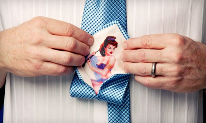 Miss Feeney's Finery: One or Two Custom Handcrafted Silk Pinup Ties from Miss Feeney's Finery (Up to 57% Off)