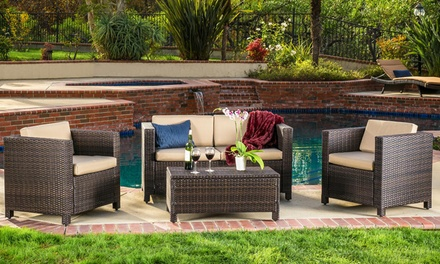 69 Off On Venice Outdoor Set 4 Piece Groupon Goods