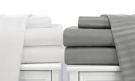 2-Pack Royal London Collection Dobby-Stripe Sheet Set. Multiple Sizes from $29.99–$49.99. Multiple Colors. Free Returns.