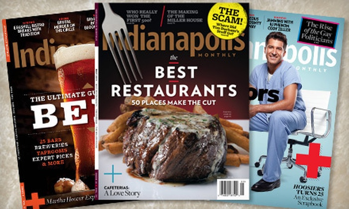 """""""Indianapolis Monthly"""" - Evansville: $12 for a One-Year Subscription to """"Indianapolis Monthly"""" ($24 Value)"""