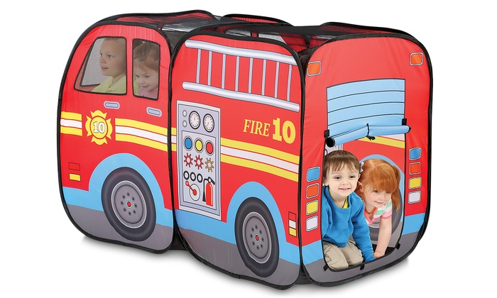 big sale 96f52 8c268 Pop-Up Fire Truck Play Tent | Groupon